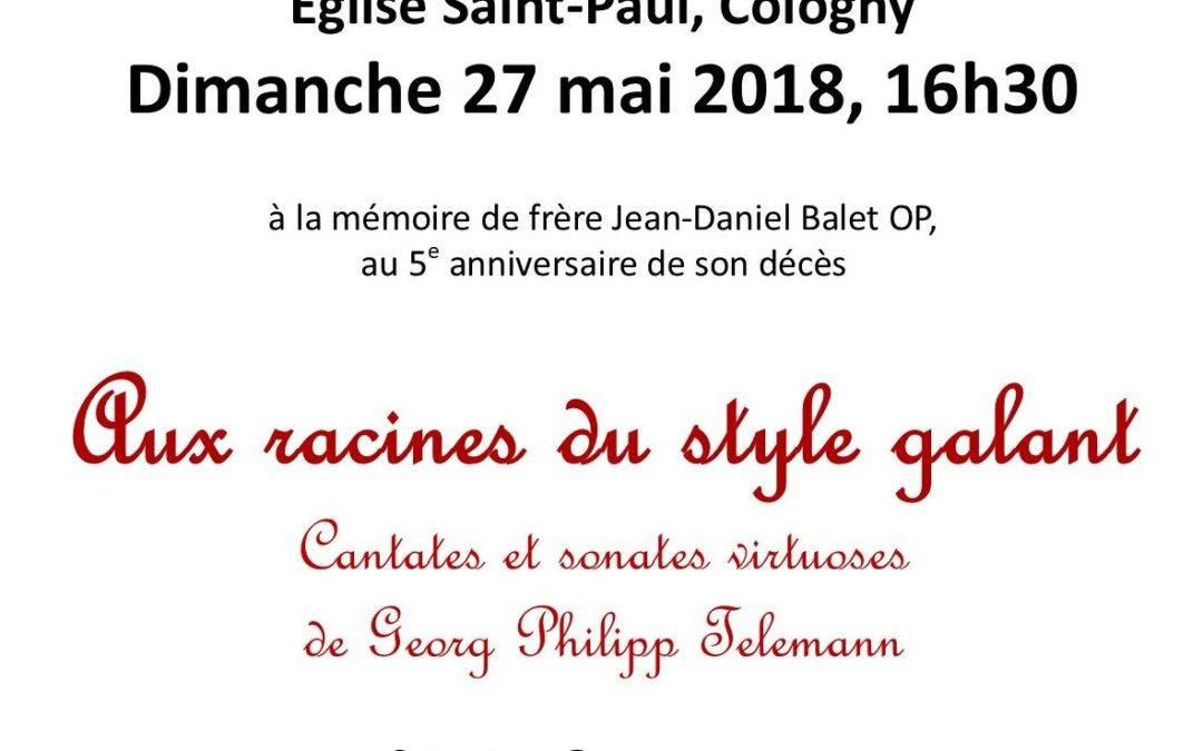 27 mai : Concert à la mémoire de Frère Jean-Daniel