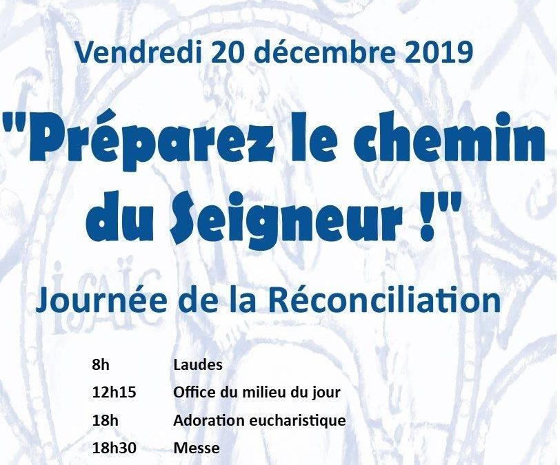 Vendredi 20 décembre, journée de la Réconciliation